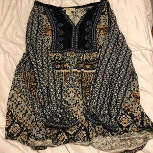 patterned blouse, tunic like